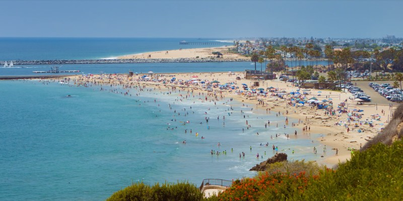 A Picture Of Corona Del Mar State Beach
