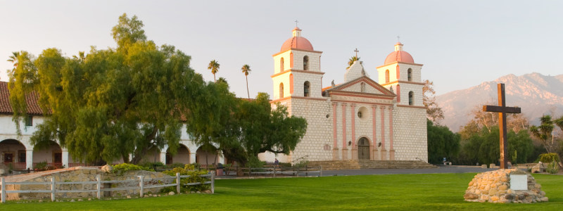 A Picture Of Mission Santa Barbara