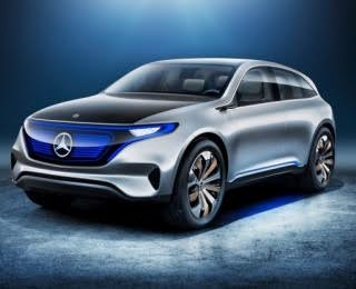 Mercedes-Benz's First Tesla Fighter Is a Blue-Nosed SUV