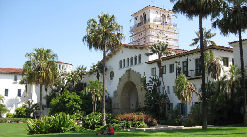 A Picture Of Santa Barbara County Courthouse