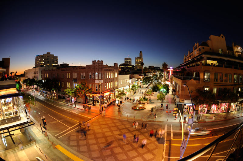 The Third Street Promenade in Night